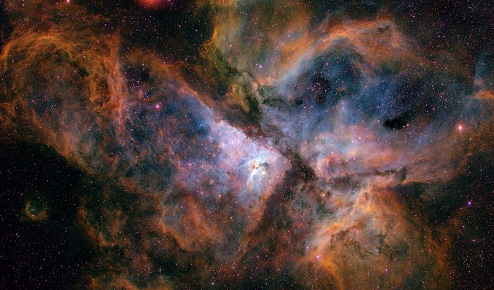The Carina Nebula from the ground