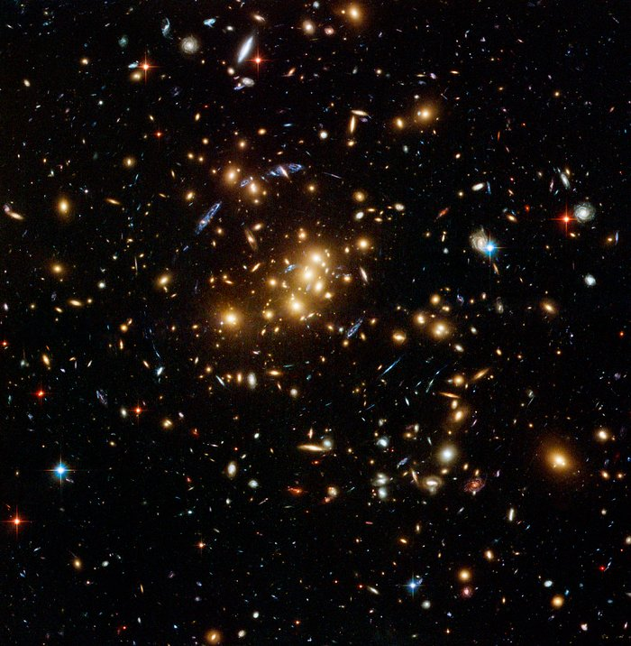 Hubble finds dark matter ring in galaxy cluster