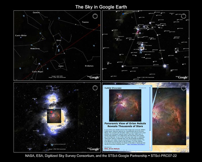 The Sky in Google Earth