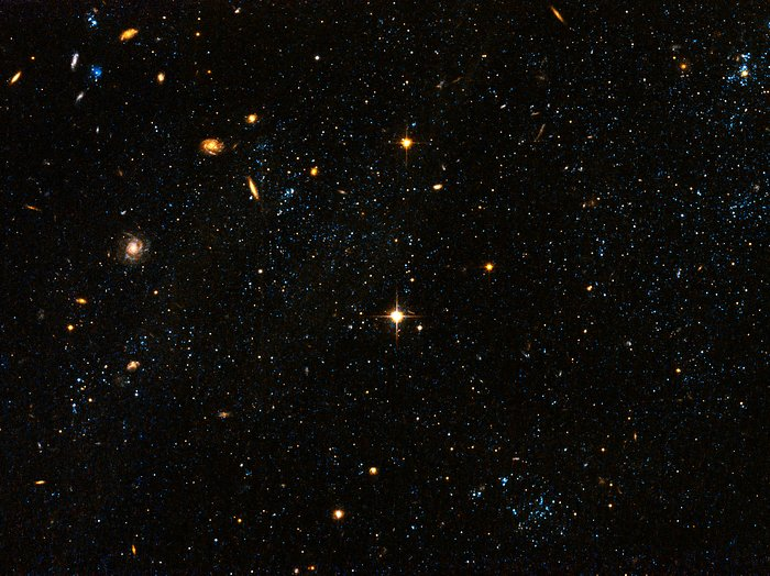 "Hubble Space Telescope visible light image ""blue blobs ..."