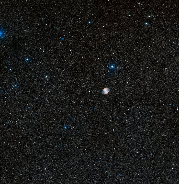 Wide-field view of HD 189733b and surroundings (DSS2 excerpt, ground-based image)