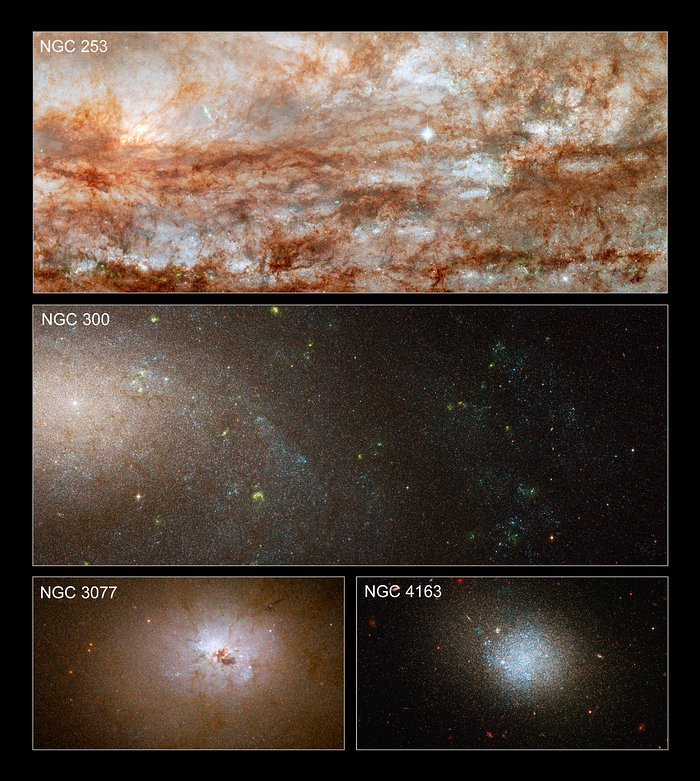 Hubble snaps close-up views of diverse galaxies