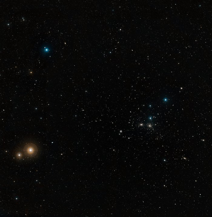 Wide-field view of the Coma Galaxy Cluster (ground-based image)