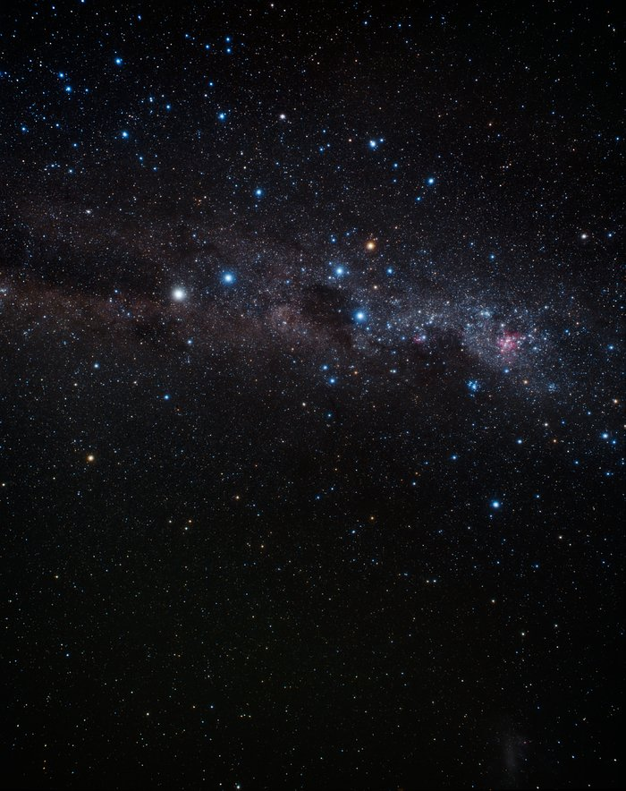 Wide-field image of the constellation Crux (ground-based image)