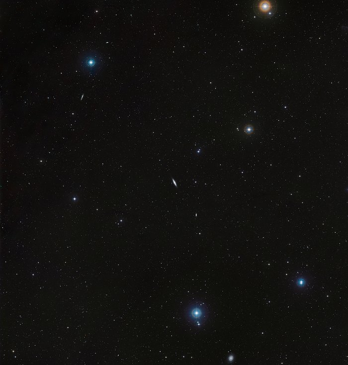 A wide-field view of the region around NGC 4710 (ground-based image)