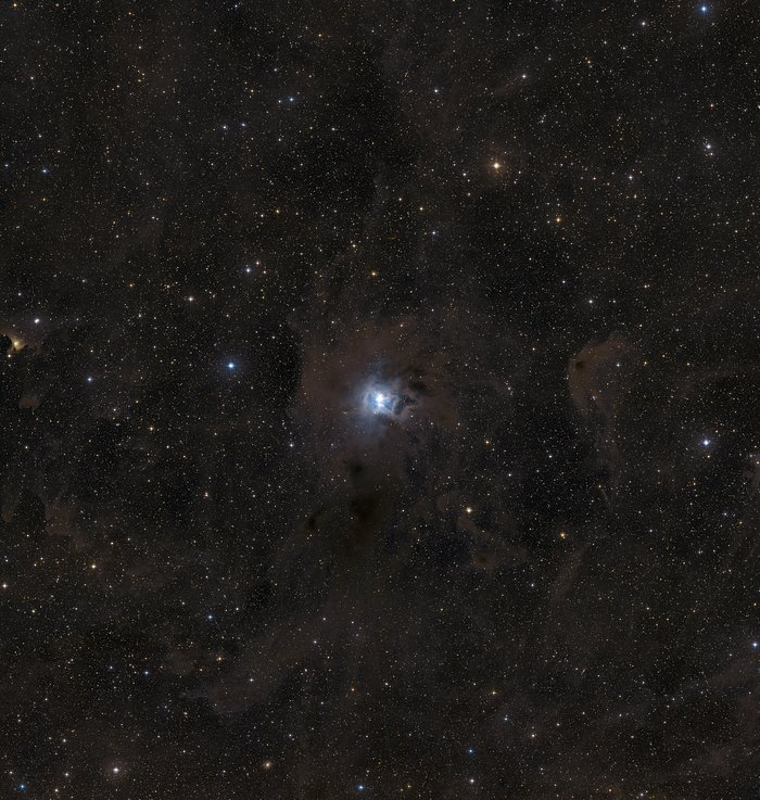 A wide-field view of the region around NGC 7023 (ground-based image)