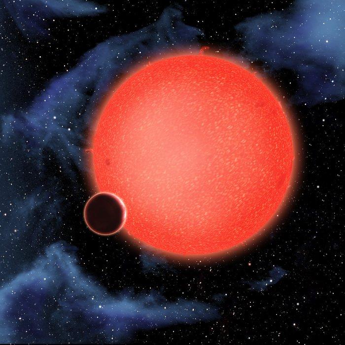 Exoplanet GJ 1214b (artist's impression)