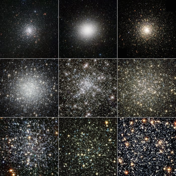 Globular clusters seen by Hubble and ESO