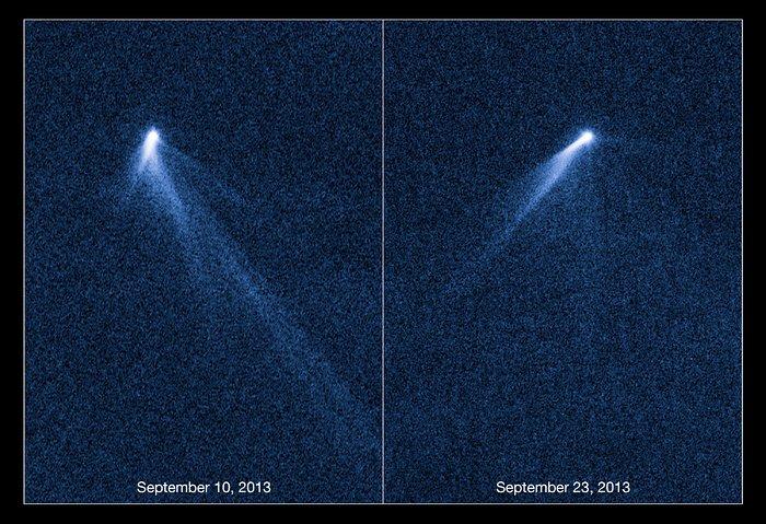 Hubble views extraordinary multi-tailed asteroid P/2013 P5 ...
