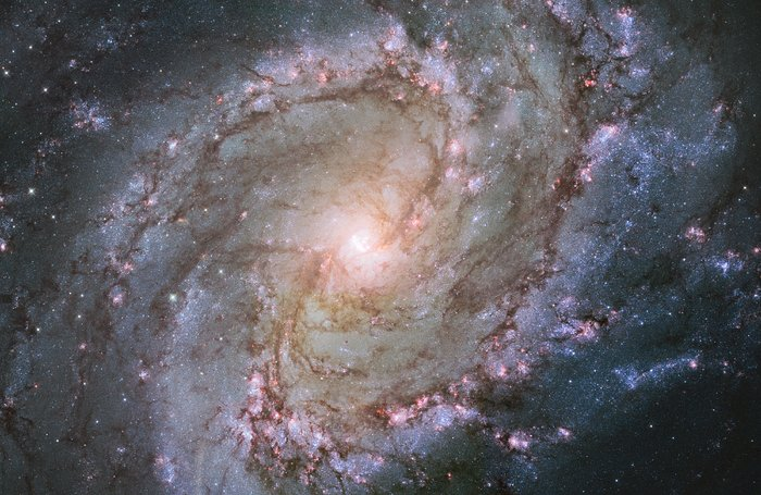 Hubble view of barred spiral galaxy Messier 83