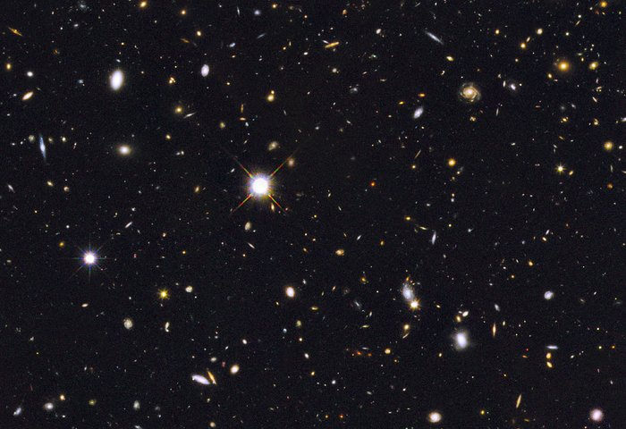 Section of Hubble GOODS North field