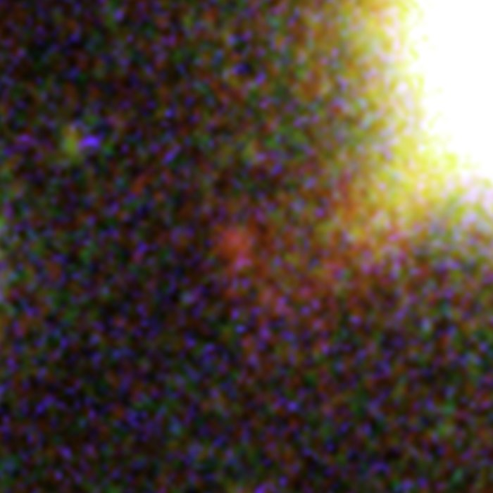 One of three magnified images of a distant galaxy (1)