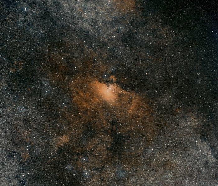 Digitized Sky Survey Image of the Eagle Nebula