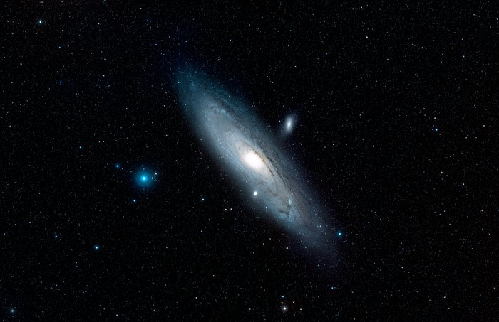 The area around the Andromeda Galaxy (ground-based image)