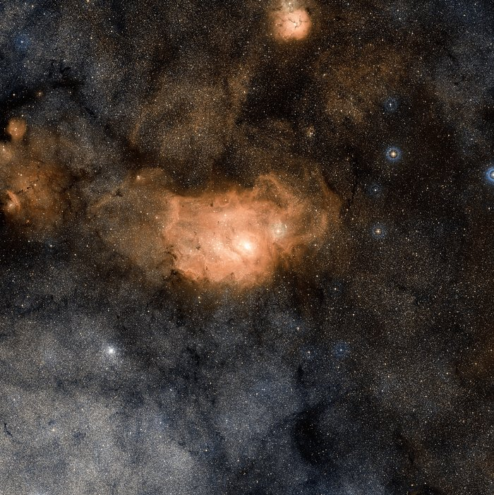 Wide-field view of the Lagoon Nebula (ground-based image)