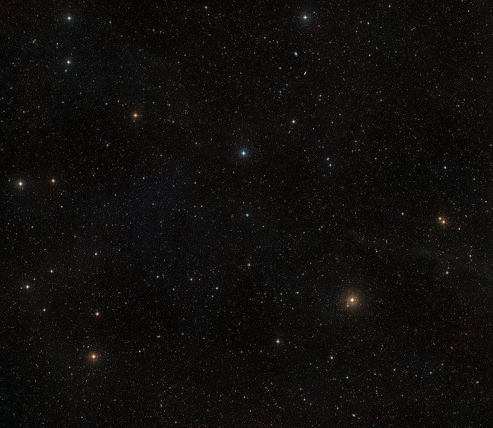 Ground-based view of the sky around the nearby star AU Microscopii