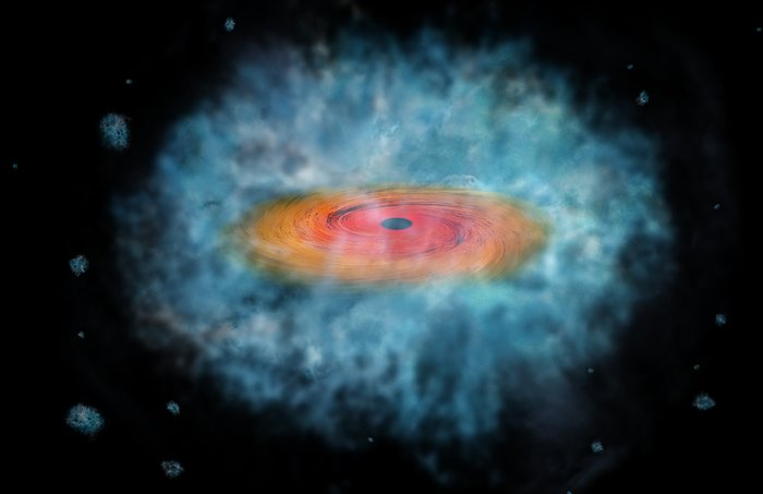 Artist's impression of supermassive black hole seed