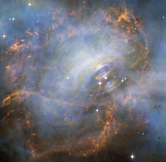 Movendo coração da Nebulosa do Caranguejo