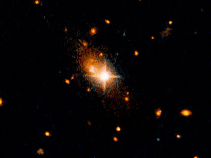 Galaxy with an ejected supermassive black hole