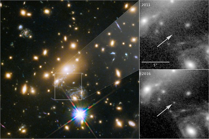 Appearance of the most distant star