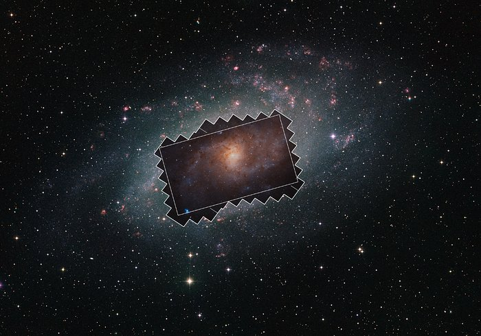 Wide-field view of the Triangulum Galaxy showing the extent of the survey