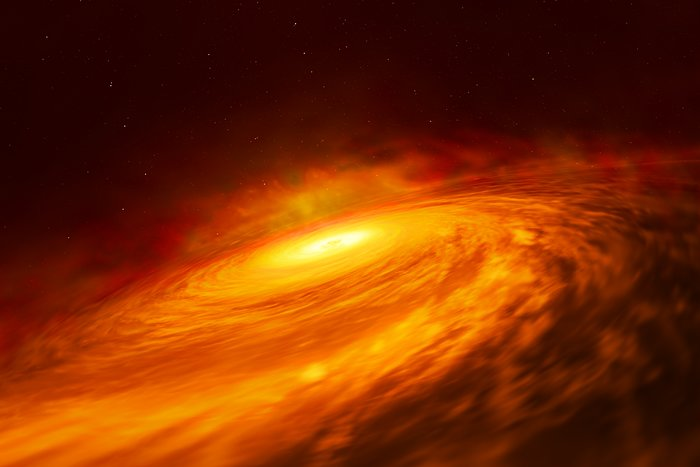 Artist's impression of NGC 3147 black hole disc