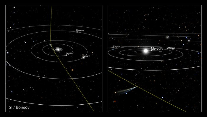 Orbital Path of Comet 2I/Borisov