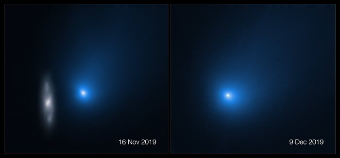 Side By Side of Hubble's New 2I/Borisov Observations