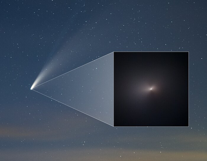 Comet NEOWISE Pullout in Ground-Based Image