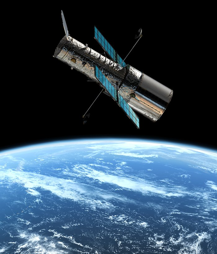 The Hubble Space Telescope in orbit