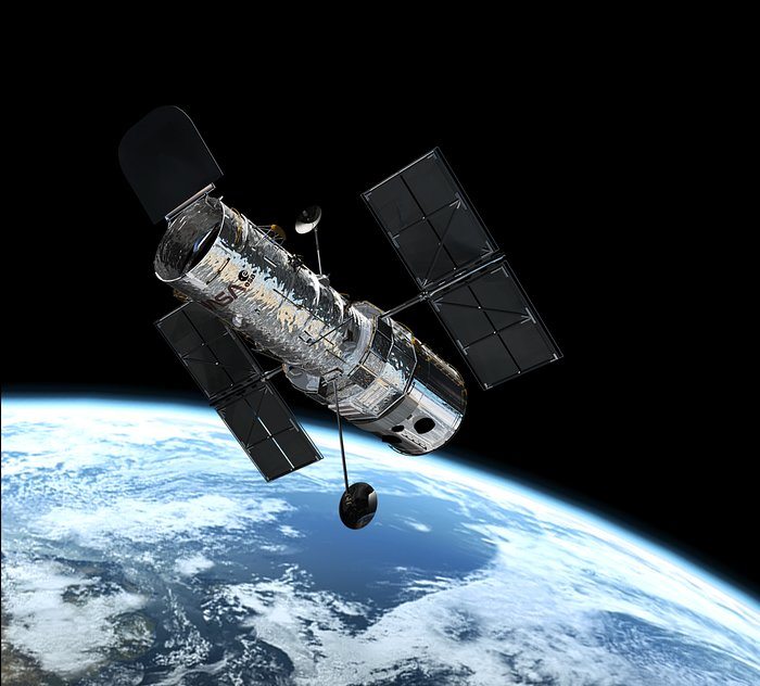Hubble in orbit