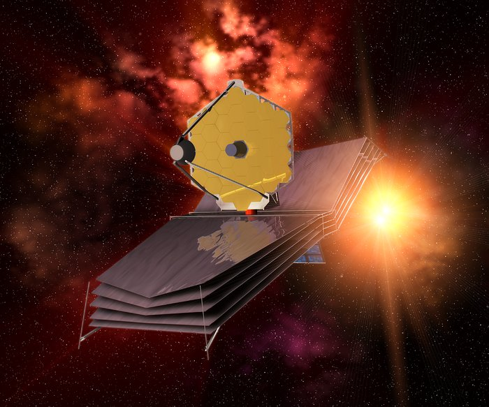 The James Webb Space Telescope (artist's impression)