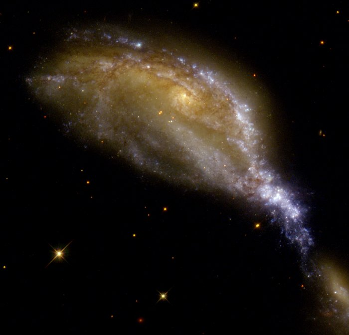 Galaxy collision in NGC 6745