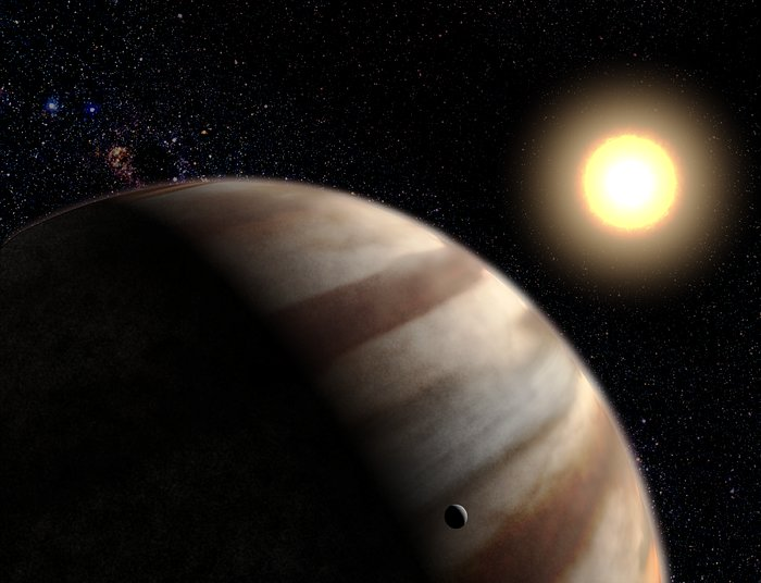 First Direct Measurements of Atmosphere on World Around Another Star (artist's impression)
