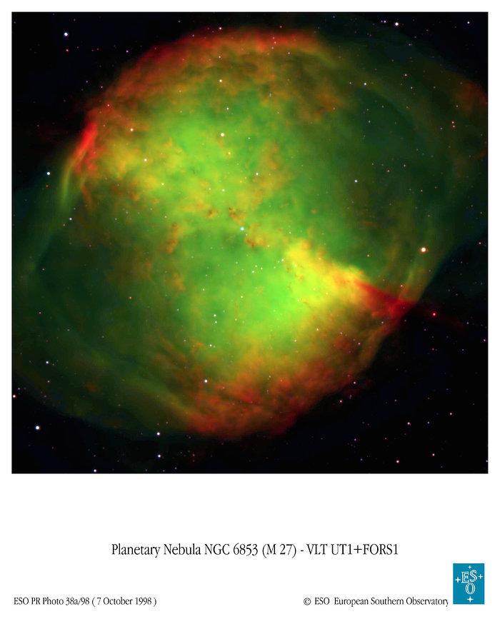VLT Image of Dumbbell Nebula (ground-based image)