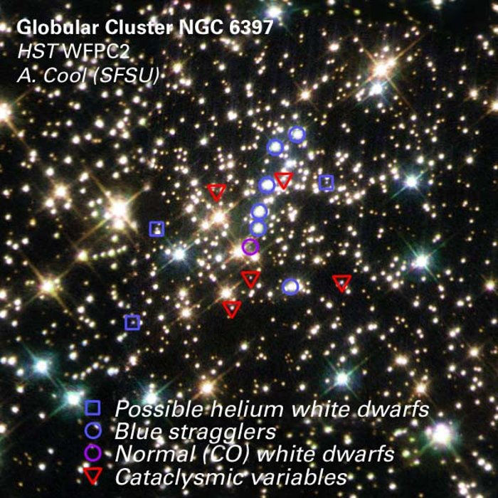 Stars Identified in the Center of NGC 6397