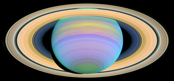 The Slant on Saturn's Rings (Ultraviolet)