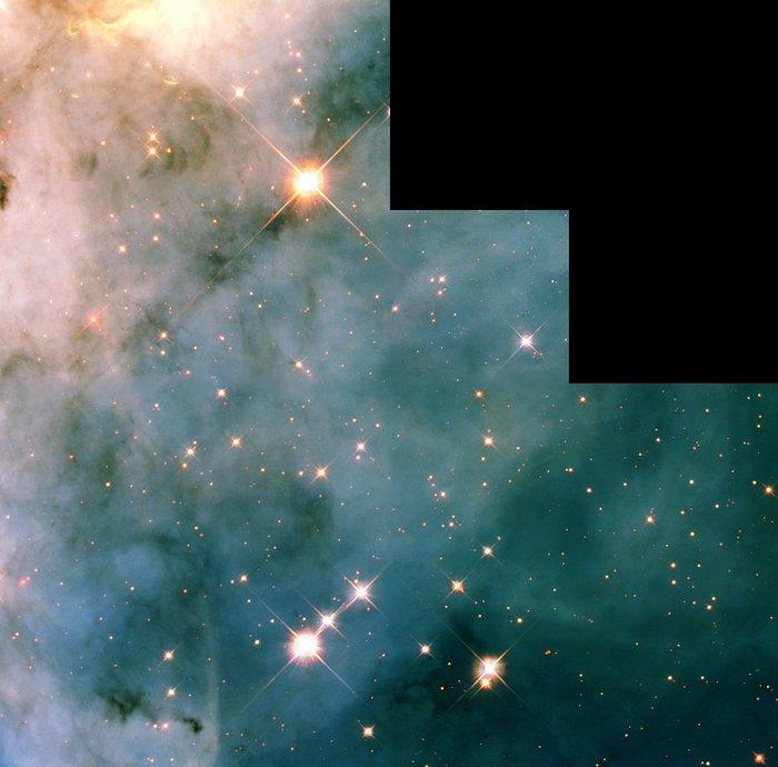 WFPC2 Mosaic of Carina Nebula Region