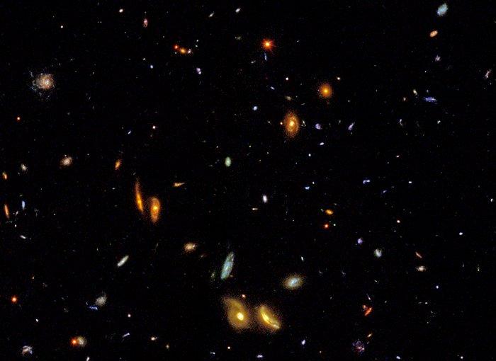 Audience viewing award-winning Hubble IMAX film (photo illustration)