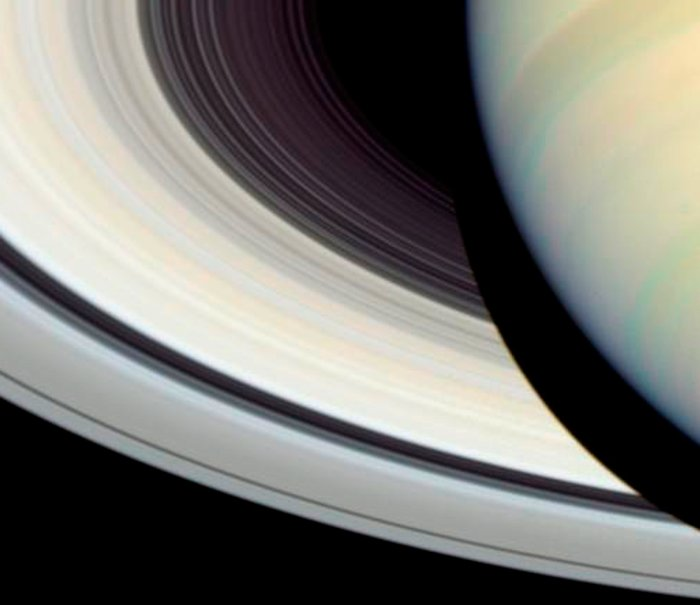 Detail of Saturn's Rings, Disk and Shadow