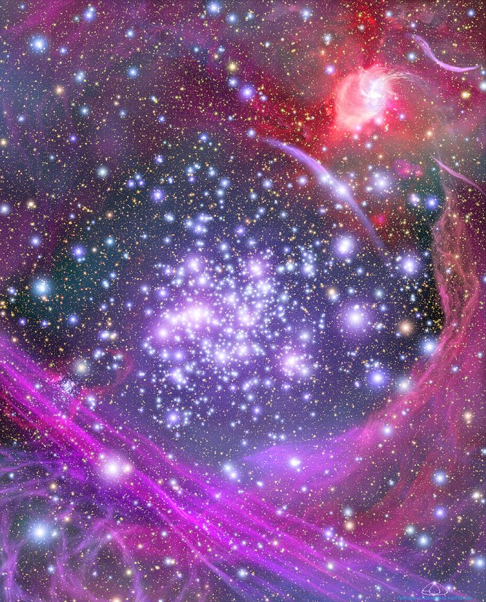 Artist's Concept of the Arches Cluster