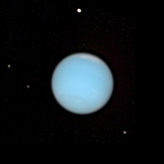Neptune - Natural colour with Satellites