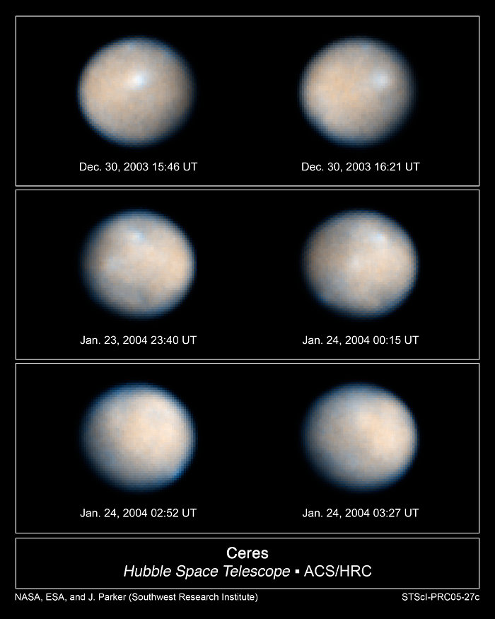 Images of the Asteroid Ceres Rotation