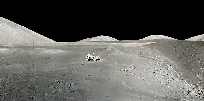 Apollo 17 Astronaut's Snapshot of Taurus-Littrow Valley