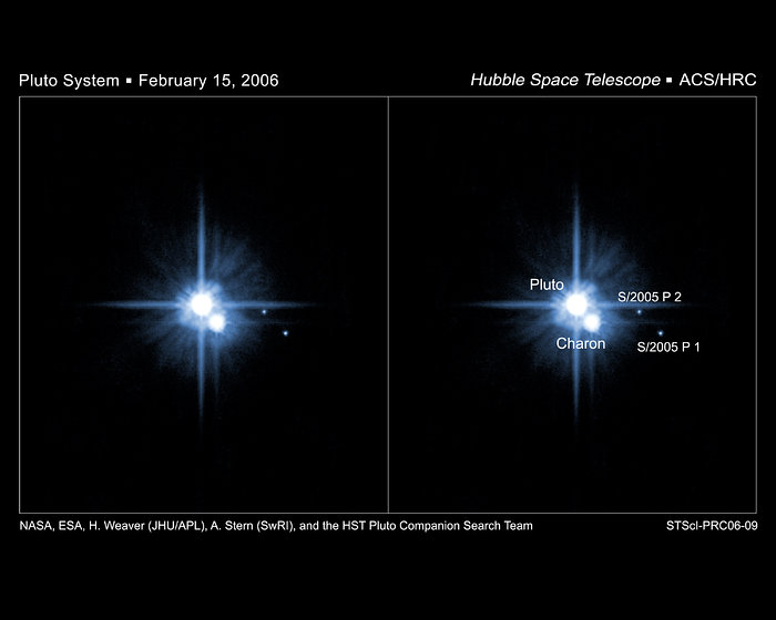Hubble Confirms New Moons of Pluto