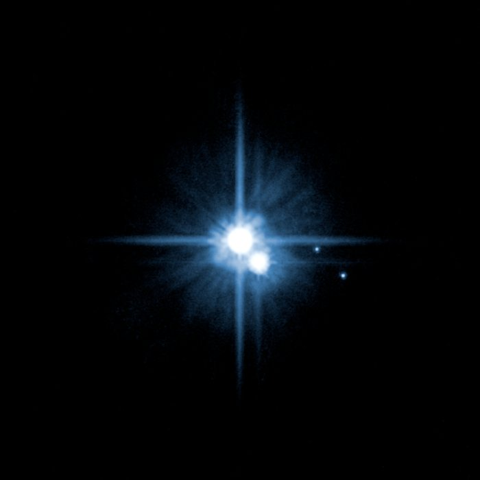 The Pluto system on Feb. 15, 2006 (non-annotated)