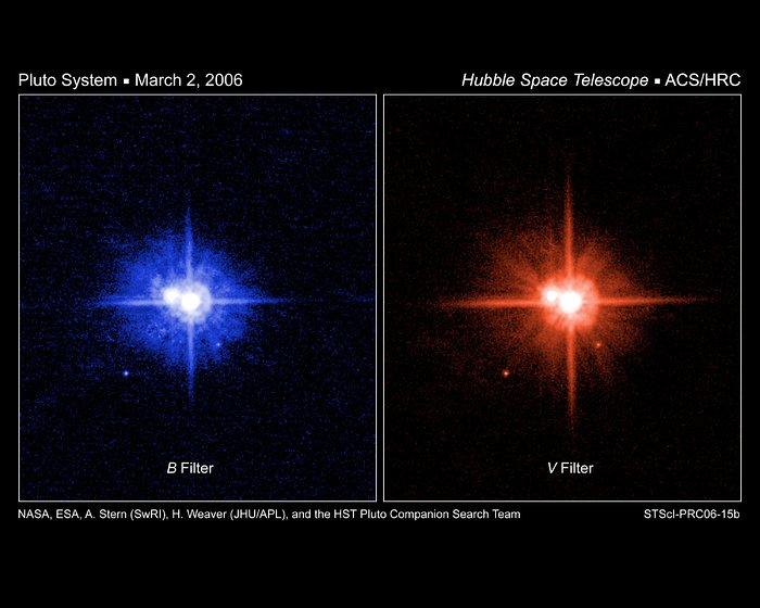 Hubble colour Images of Pluto's Moons Support a Common Birth
