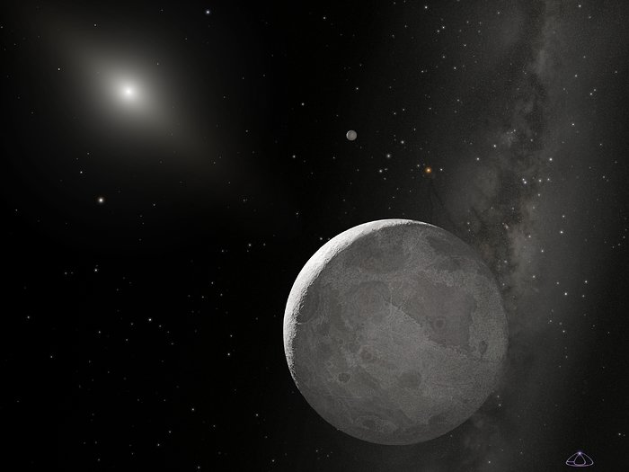 Artist's concept of Kuiper Belt Object 2003 UB313 (non-annotated)