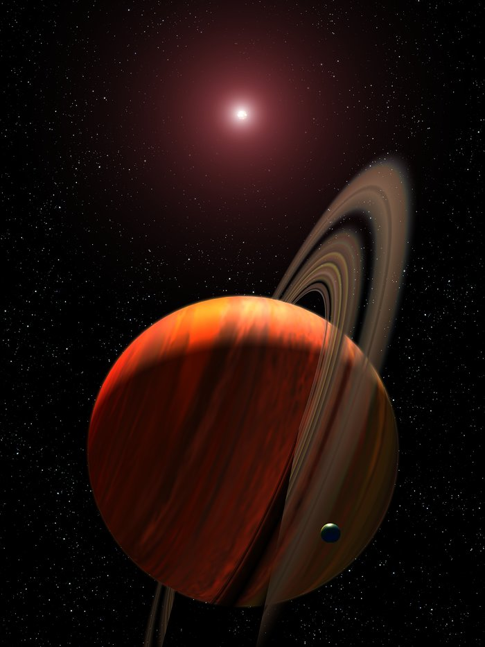 Artist's View of Planet Around a Red Dwarf