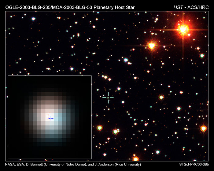 Identification of extrasolar planet host star